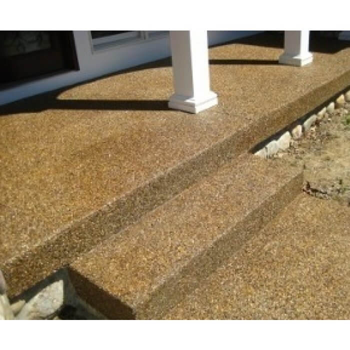 Brown Tinted Exposed Aggregate Patio