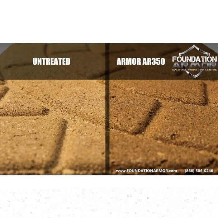 Armor AR350 Before & After on Tan Stamped Pavers