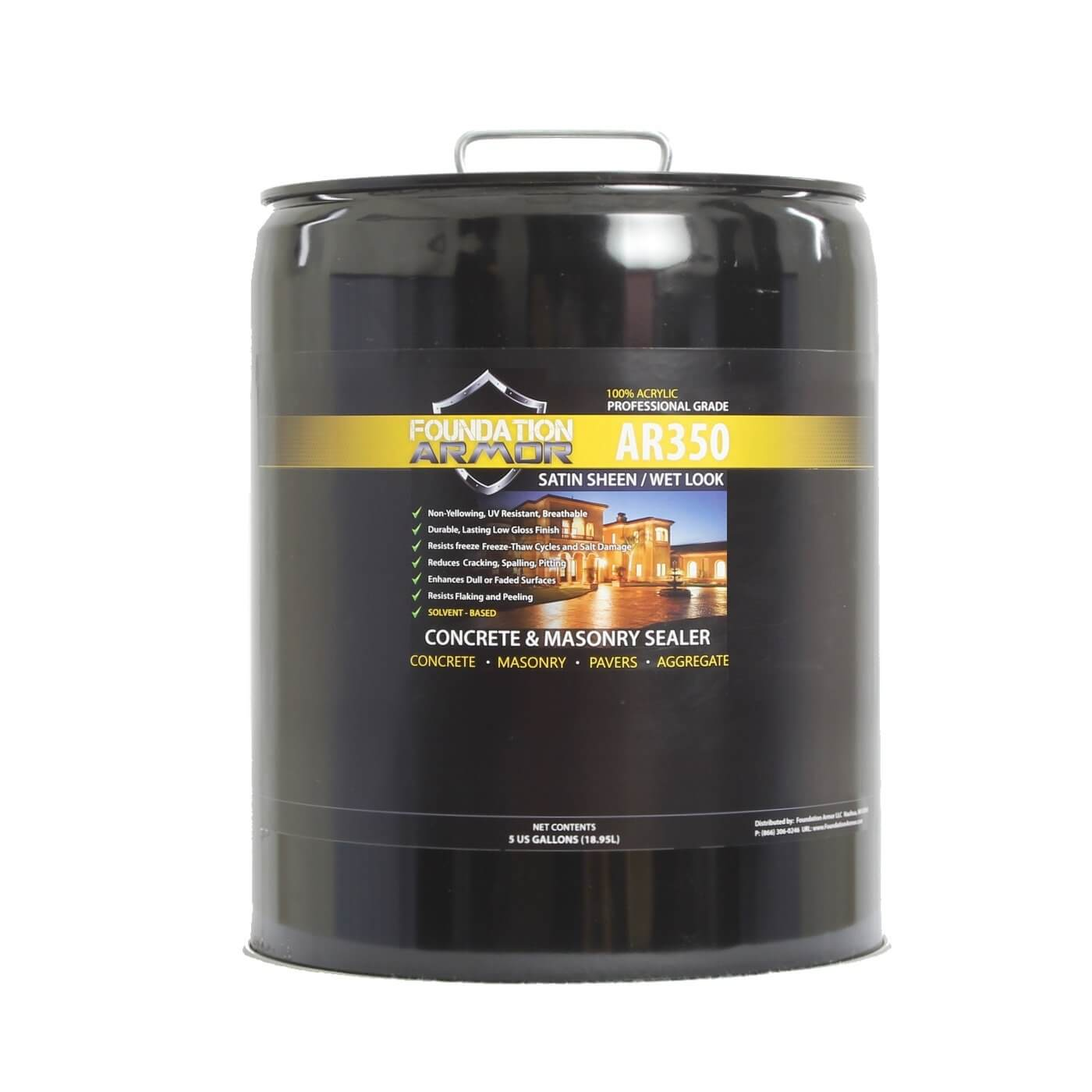 Armor AR350 Solvent Based Acrylic Wet Look Concrete Sealer and ...