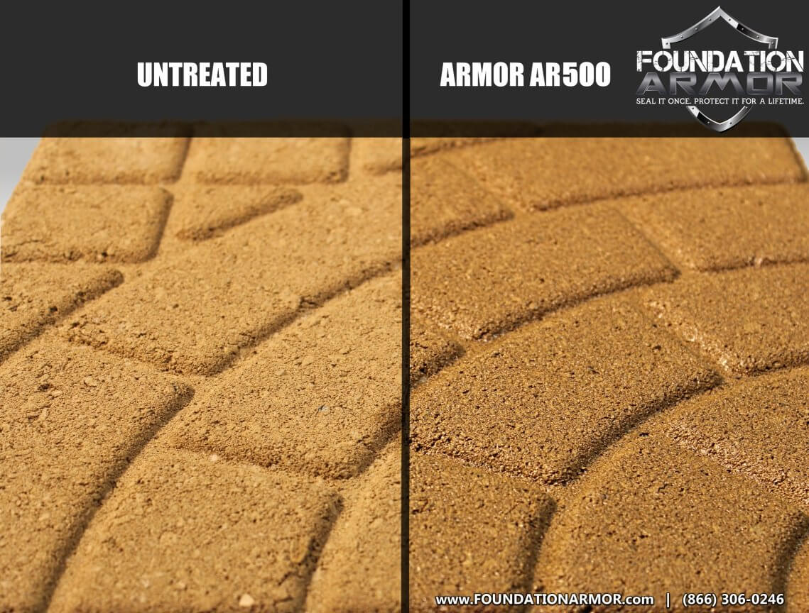Armor AR500 Solvent Based Wet Look High Gloss Acrylic Concrete Sealer and  Paver Sealer (5 GAL)