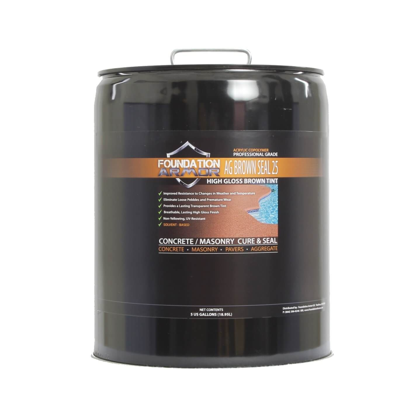 Sealing exposed aggregate pool deck - 5 Gal Armor Ag Brown Seal