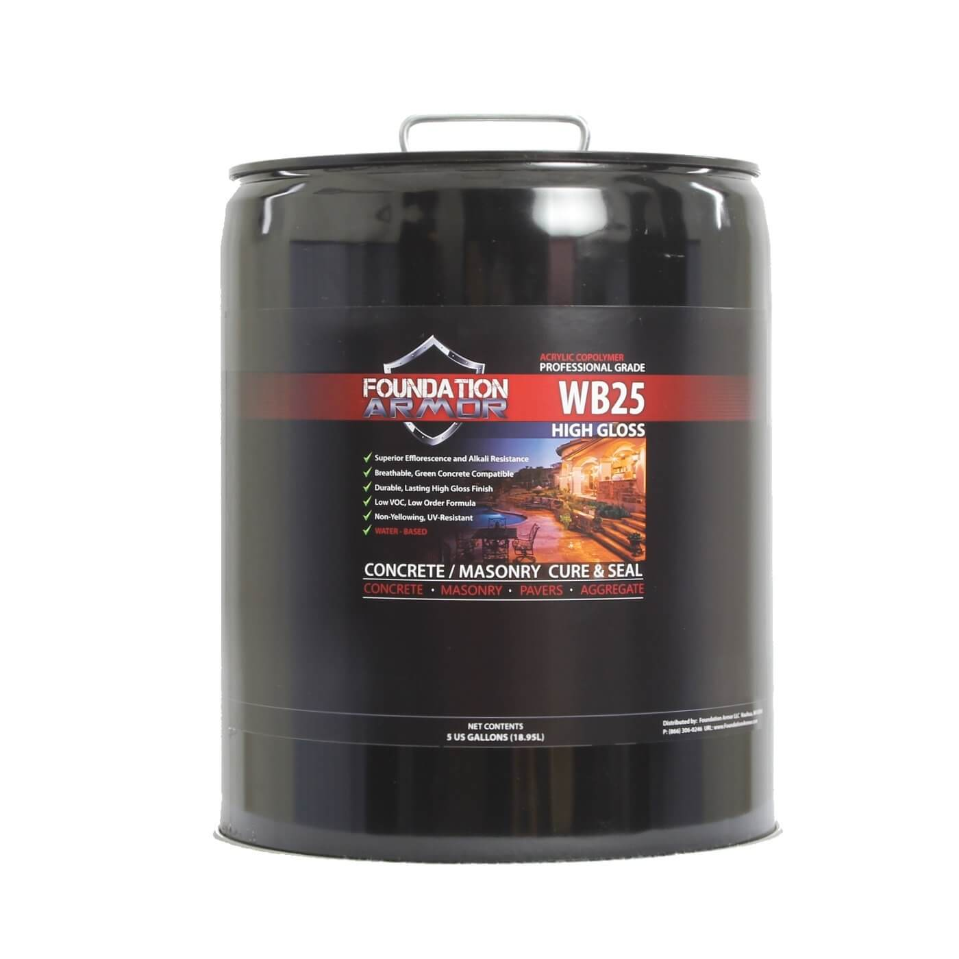 Armor WB25 High Gloss Water Based Acrylic Concrete Cure and Seal (5 GAL)