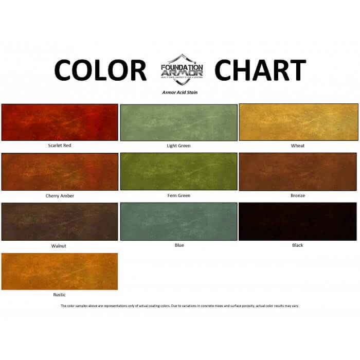 Armor Acid Stain Color Chart