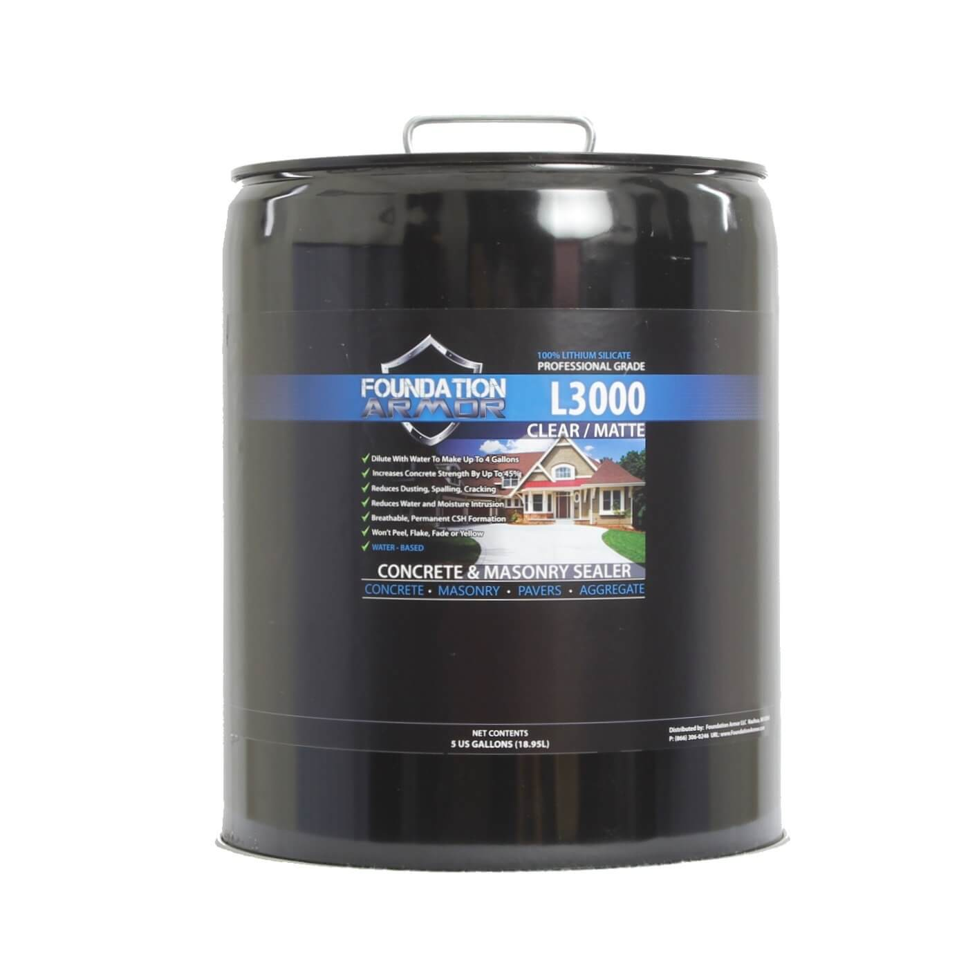 Deep Penetrating Lithium Silicate Concrete Sealer And