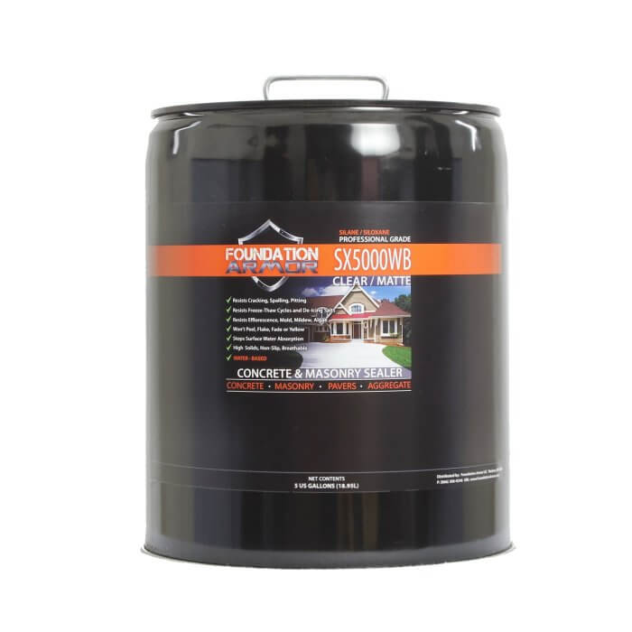 5 GAL Water Based Silane Siloxane Concrete Masonry Sealer