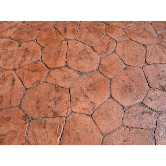 Armor AR350 in Clear on Colored Stamped Concrete