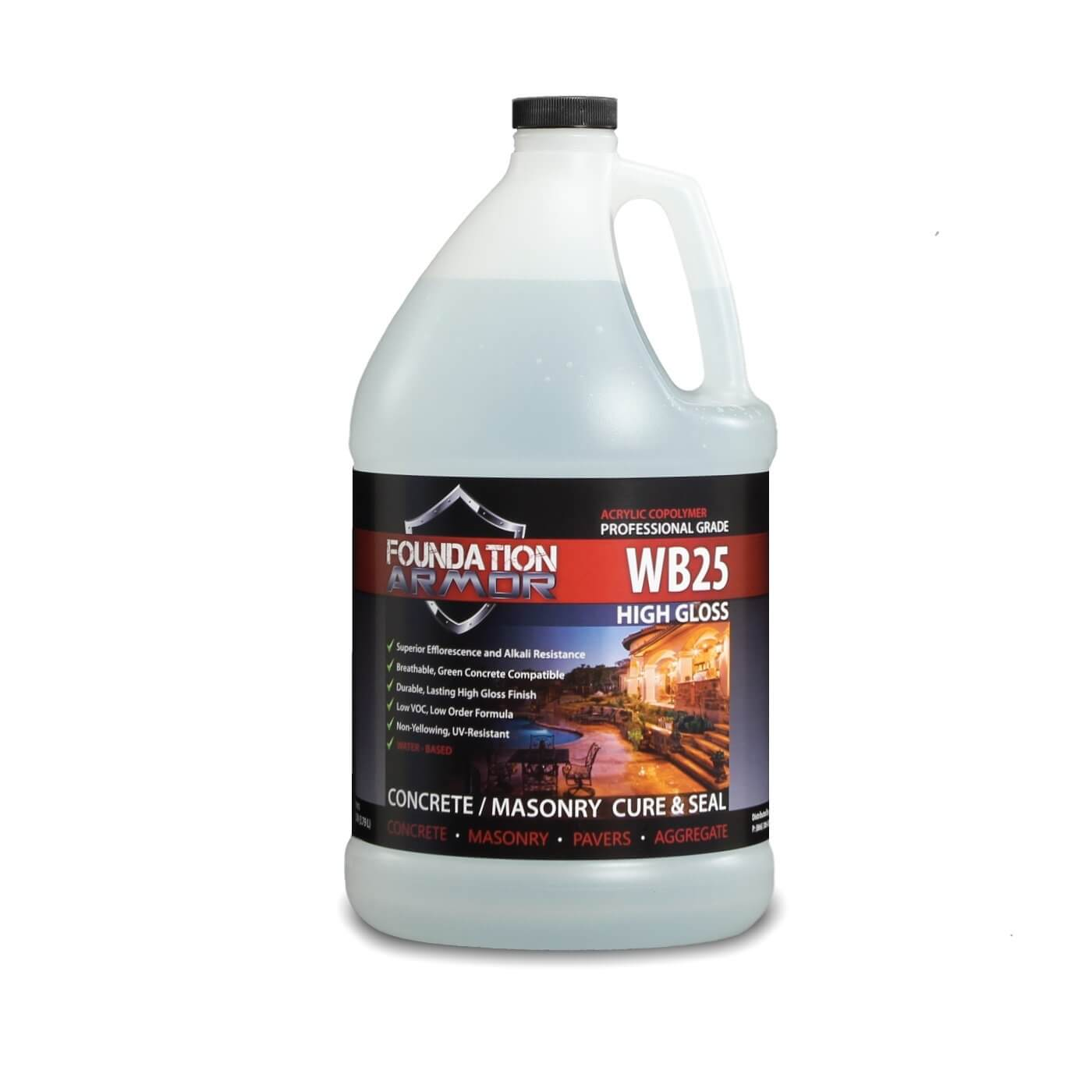 Armor Wb25 High Gloss Water Based Acrylic Concrete Cure