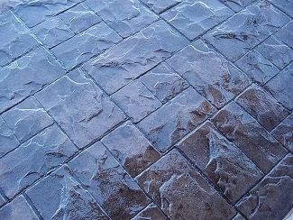 Stamped Concrete Sealed with Solvent Based Acrylic Sealer