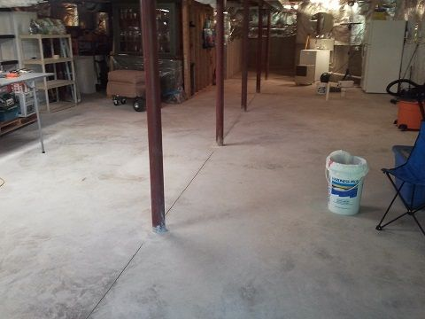 Delightful Customer Spotlight: UTN60 Basement Floor Coating In Medium Gray Home Design Ideas