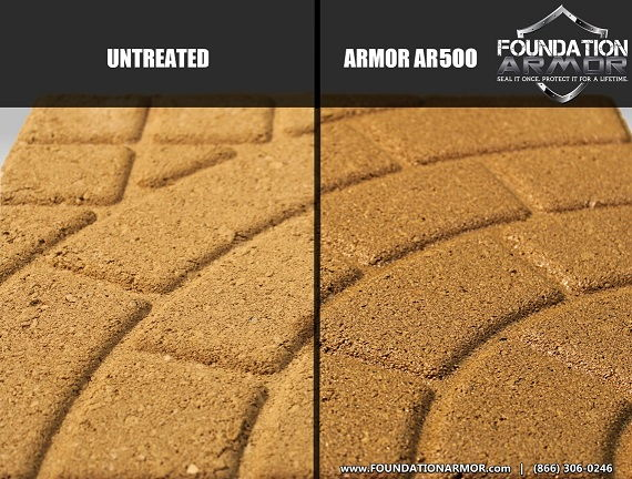 Pavers Sealed with Armor AR500