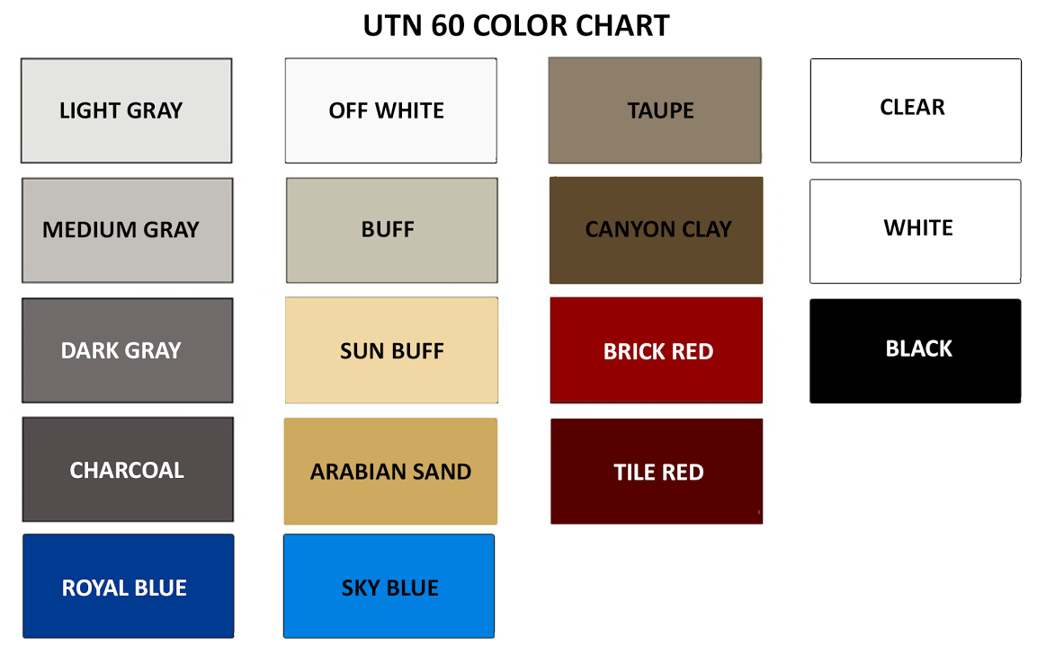 Armor utn60 oil and gas resistant aliphatic urethane concrete floor product brochure color chart nvjuhfo Gallery