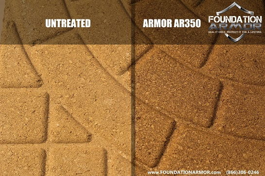 Pavers Sealed with Armor AR350